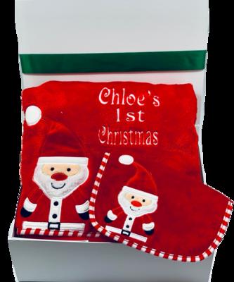 First Christmas Santa gift box