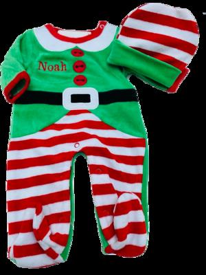Elf Baby grow and hat set