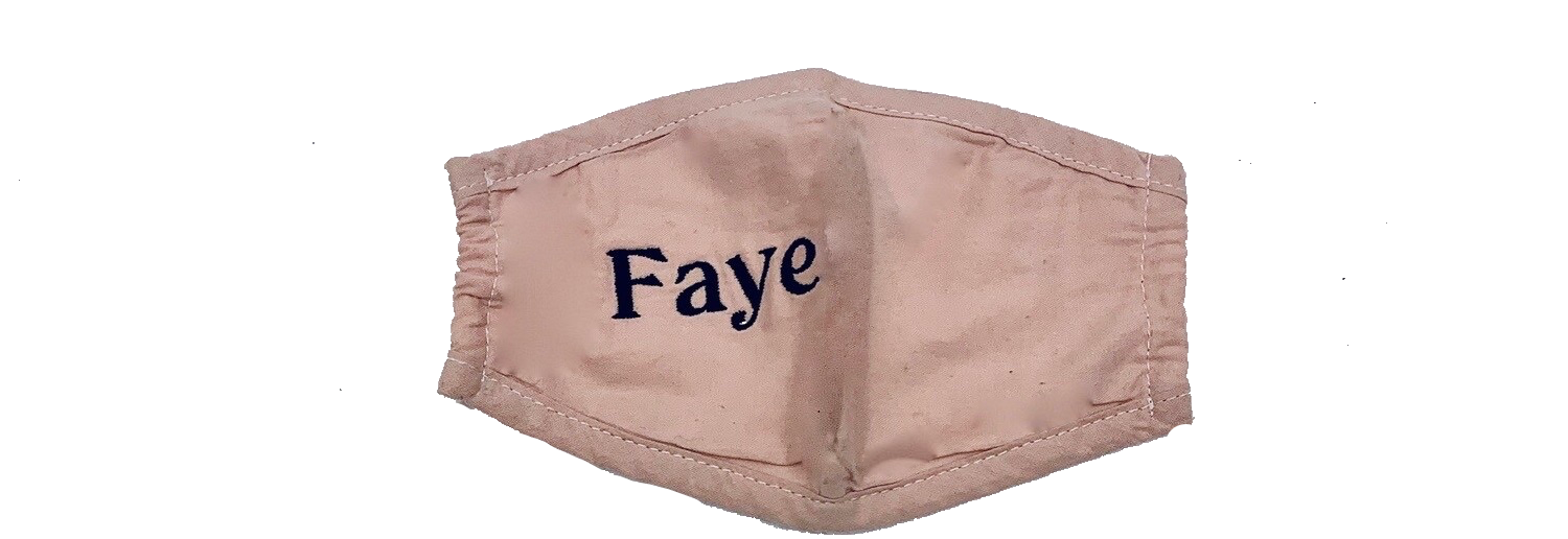 children's personalised face mask