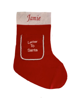 Personalised Red Letter to Santa stocking
