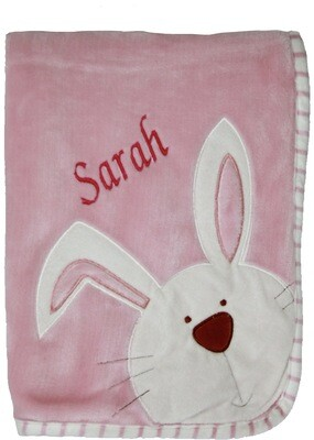 Pink Bunny Blanket