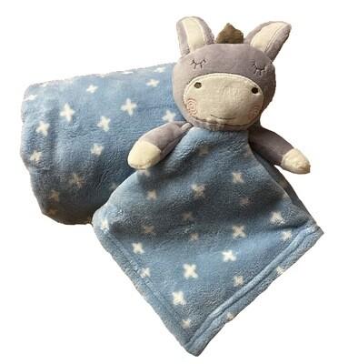 Blue donkey star Blanket & Comforter Set