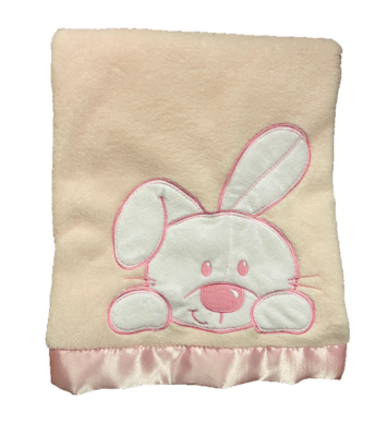 Pink and white Bunny Blanket