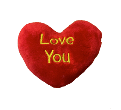 Large I love you pillow red and gold