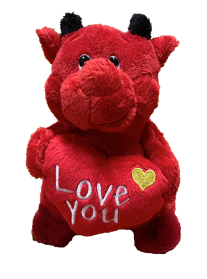 Little Devil love you teddy with gold heart