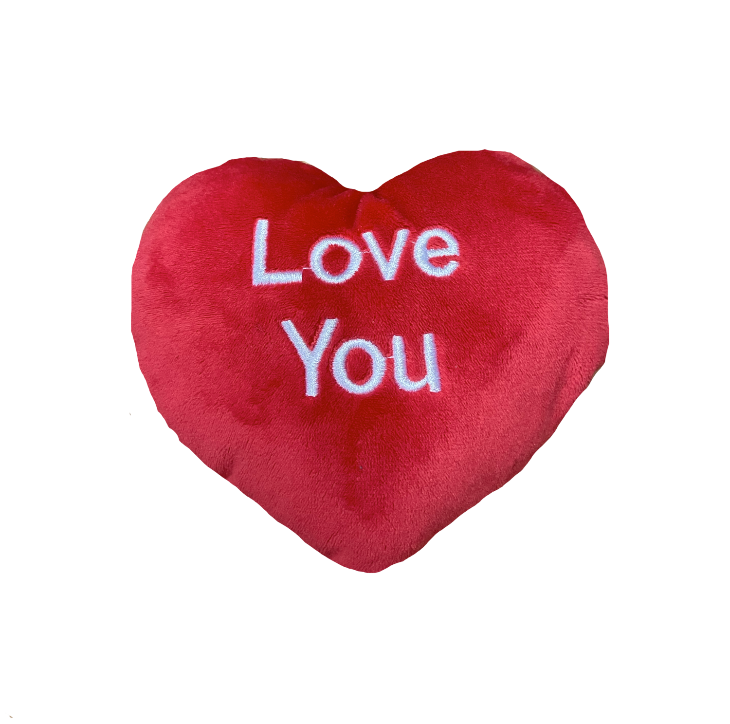 Large I love you pillow red and white