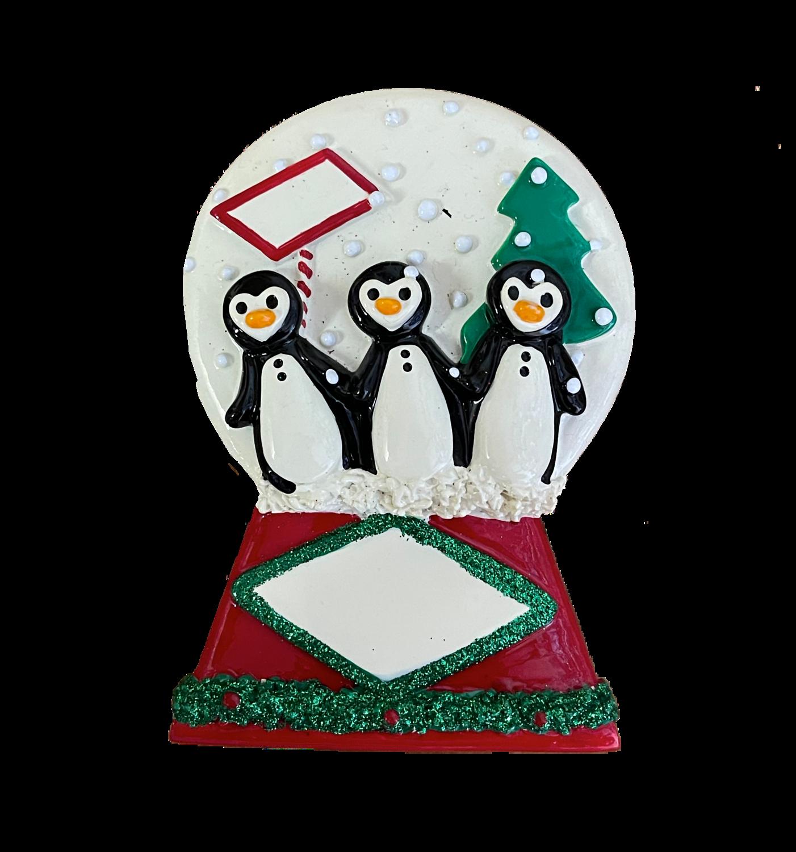 penguin mantel topper