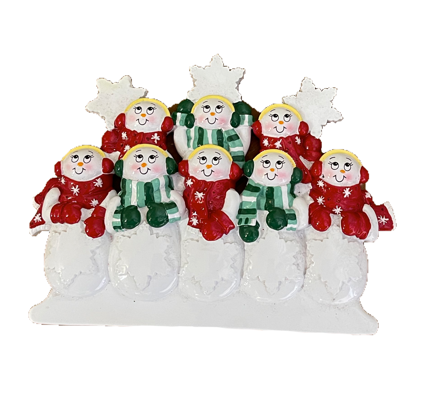 Snow Family of eight Table Topper