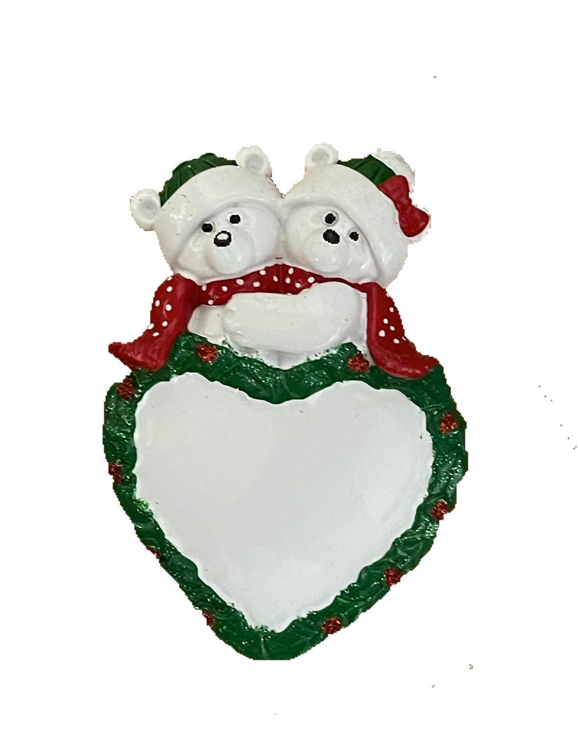 bear and heart couple  Ornament