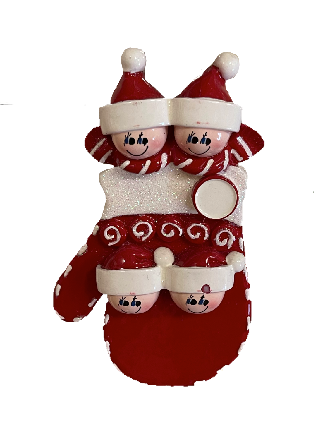 Mitten family of four ornament
