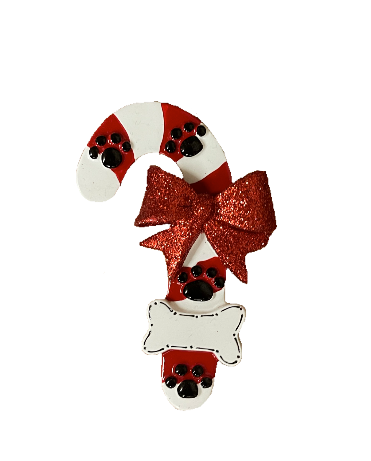 Pet candy cane Christmas tree ornament