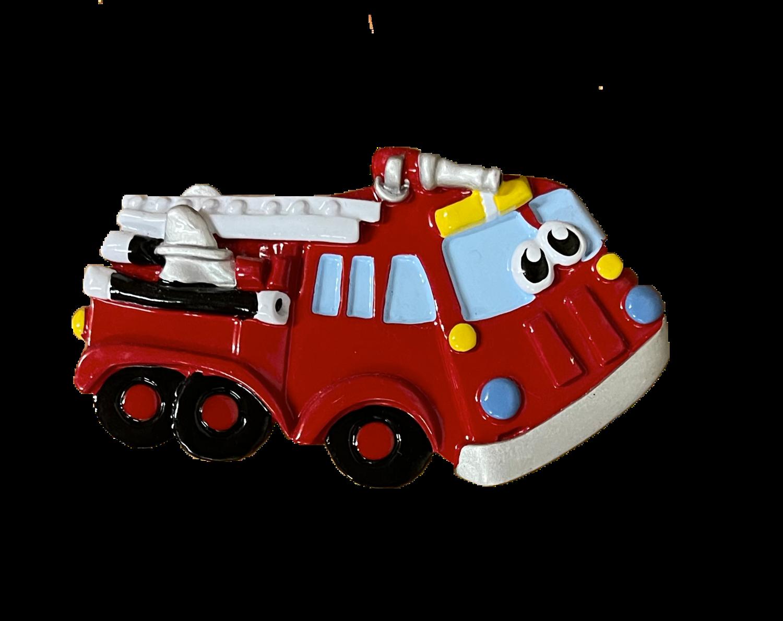 fire truck Christmas tree ornament