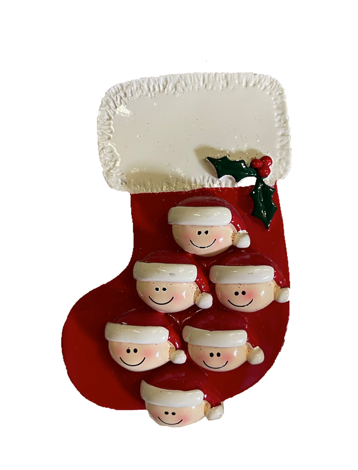 stocking family of six ornament