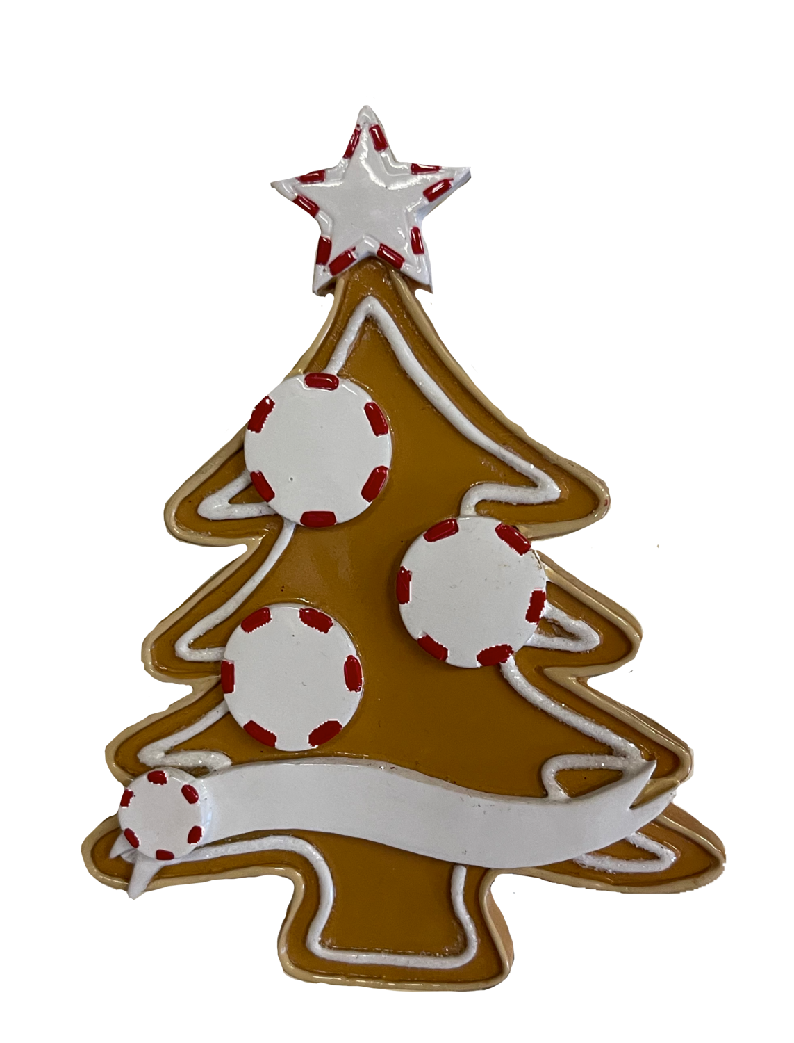 Gingerbread tree family of three ornament