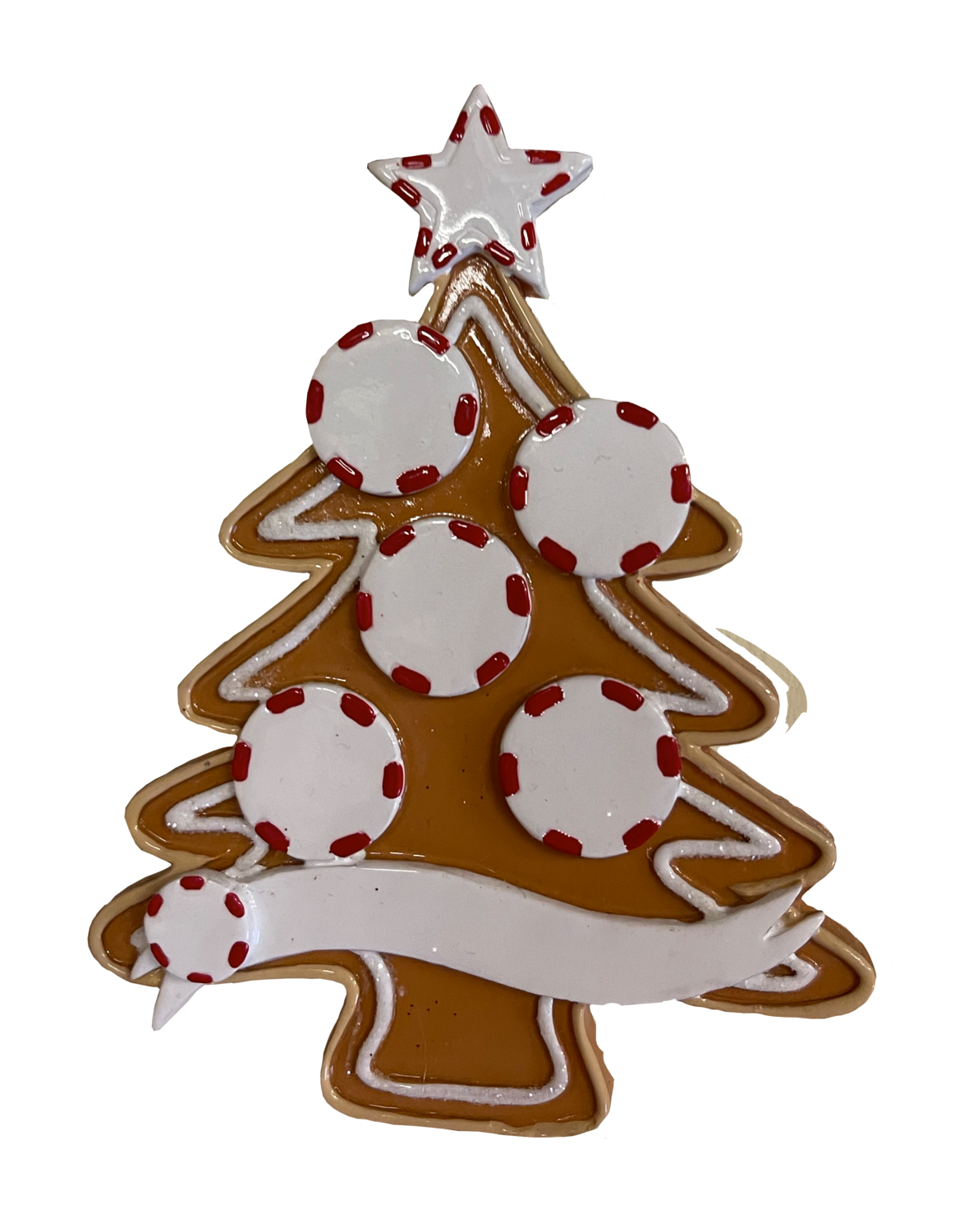 Gingerbread tree family of five ornament