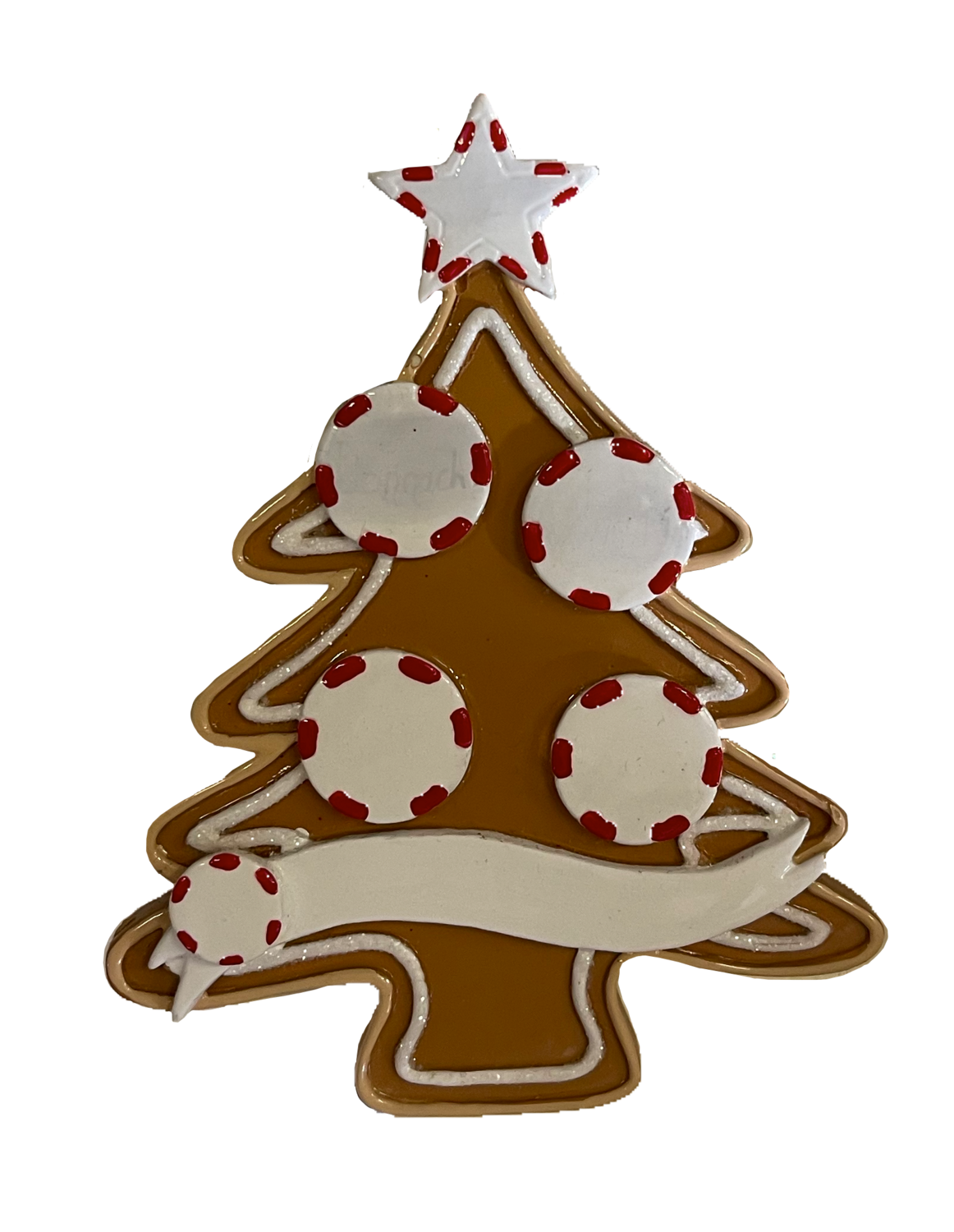 Gingerbread tree family of four ornament