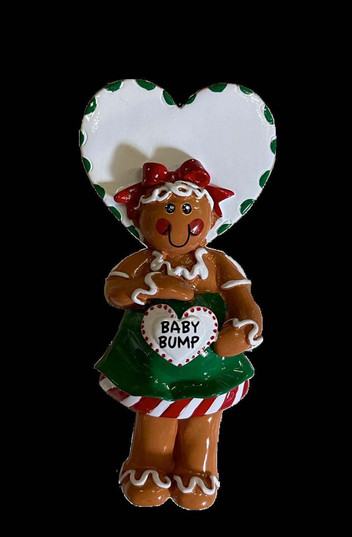 Gingerbread baby bump ornament