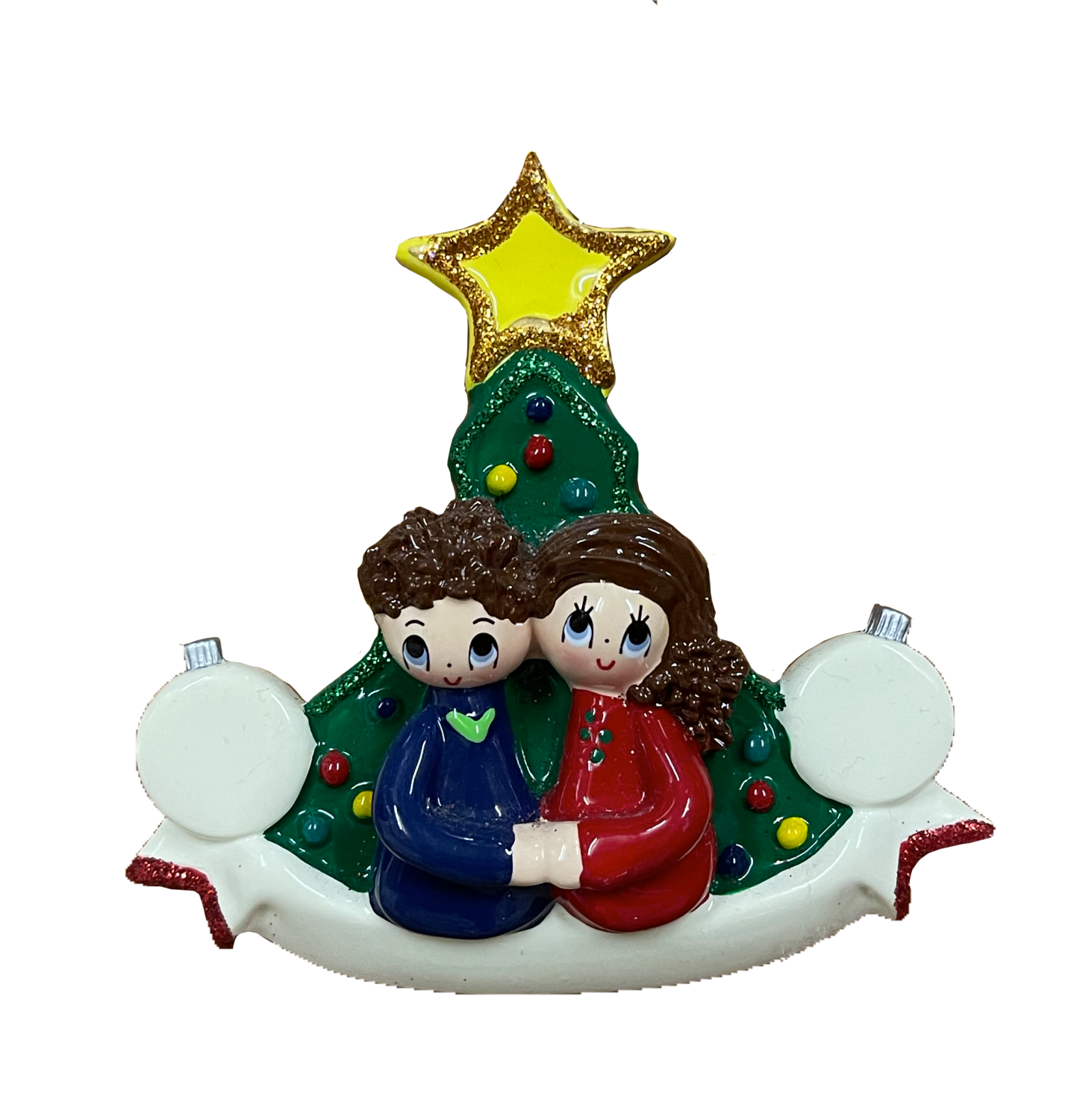 Our 1st Christmas with bubbles couple  Ornament