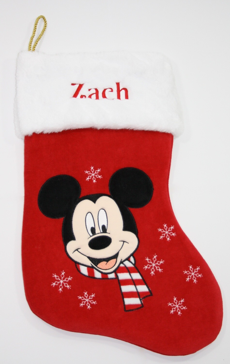 Disney personalised Mickey Mouse Christmas stocking