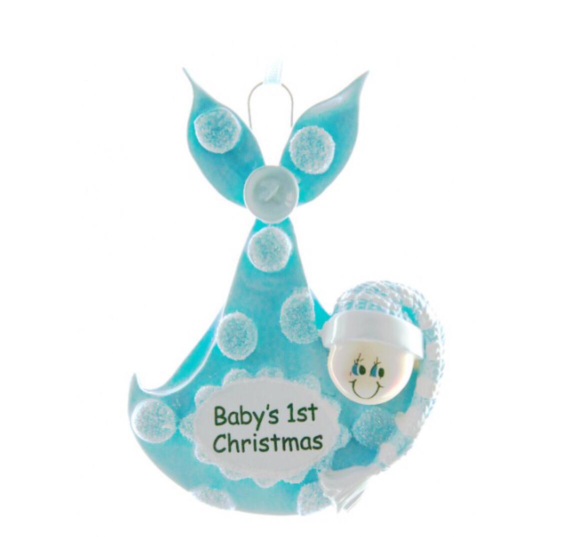 Blue baby bundle ornament