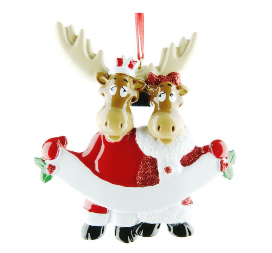 Mousse family two ornament