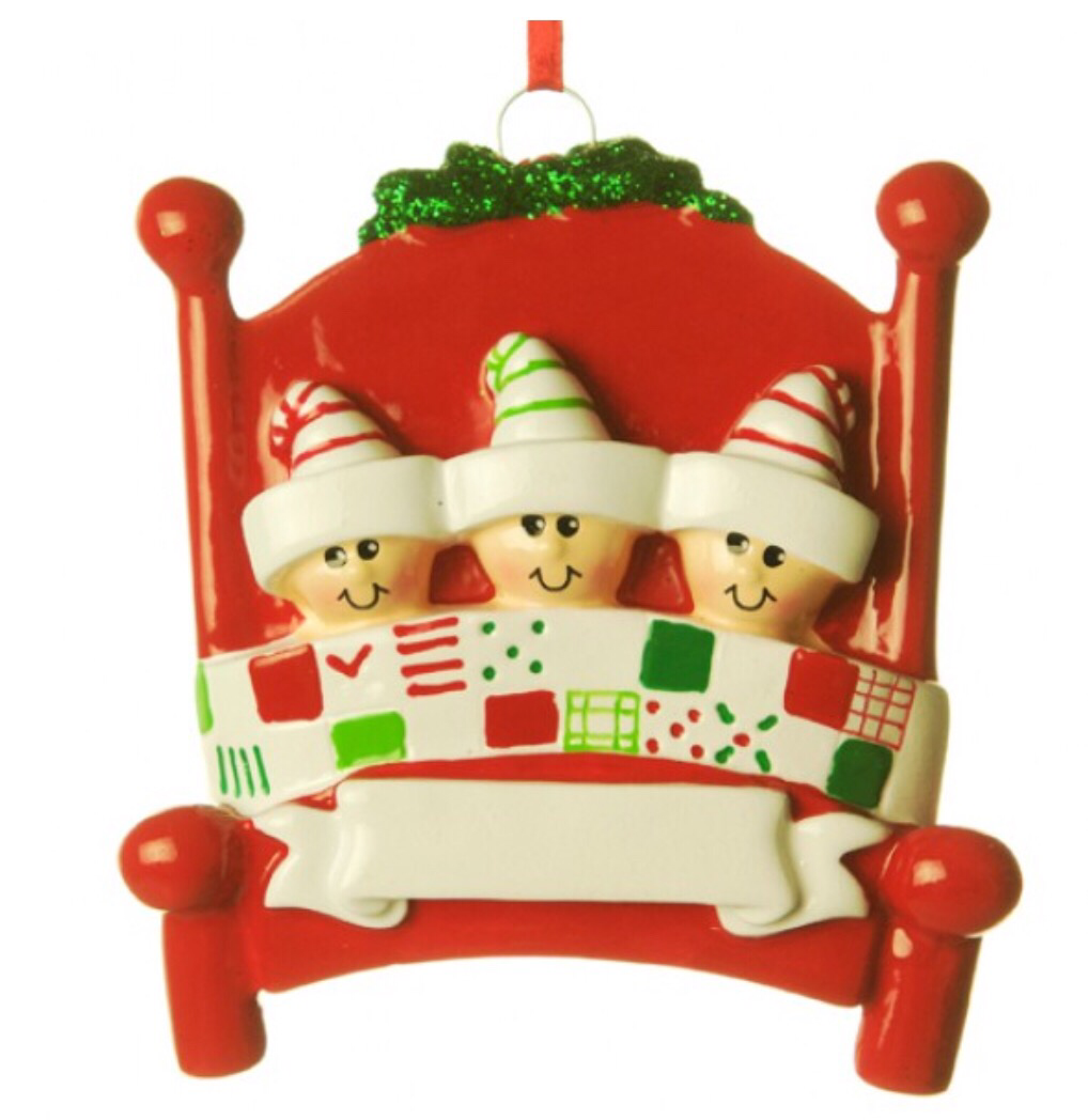 Bed head family of three ornament