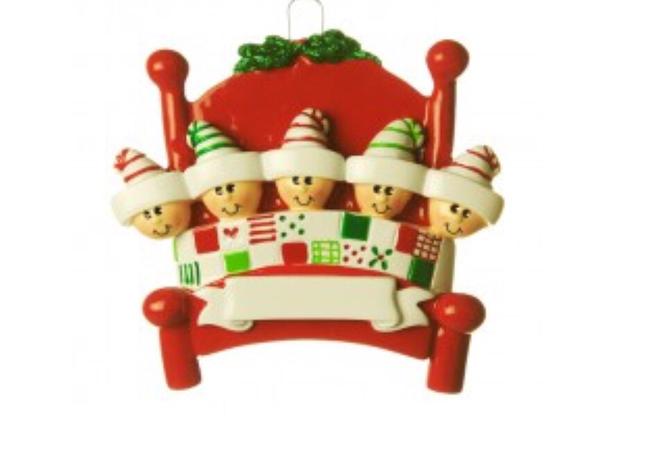 Bed head family of five ornament