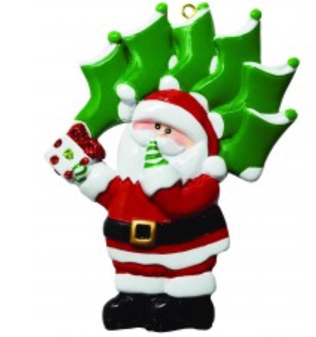 santa stocking family of six ornament