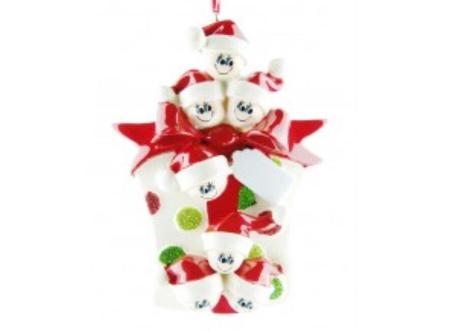 Gift family of seven ornament