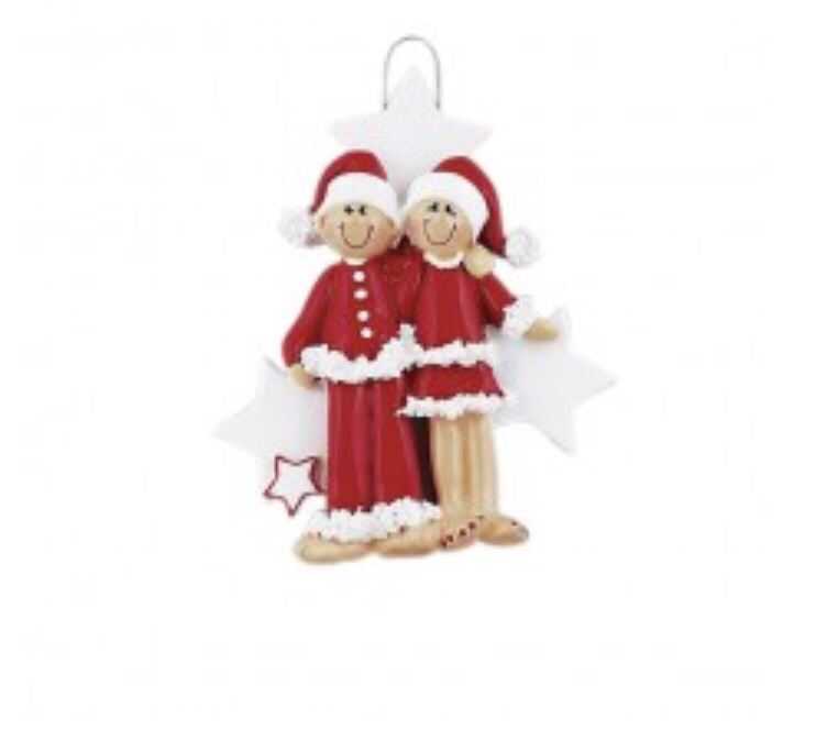 Star couple ornament