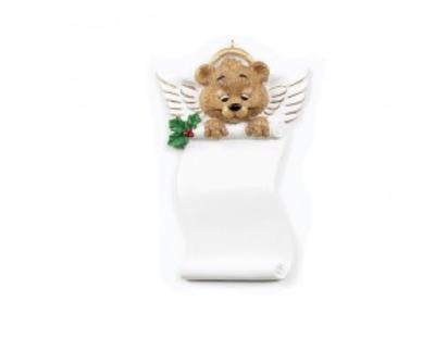 Angel bear scroll ornament
