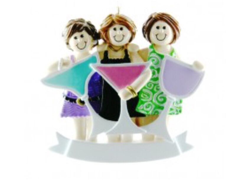 Girls night out of three ornament