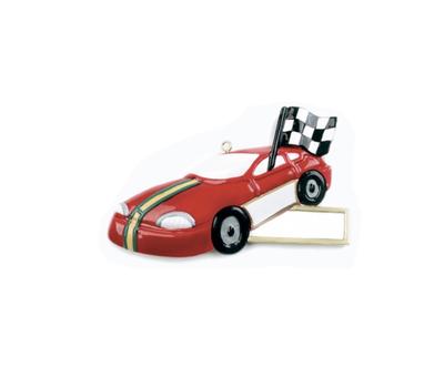 Racing car ornament
