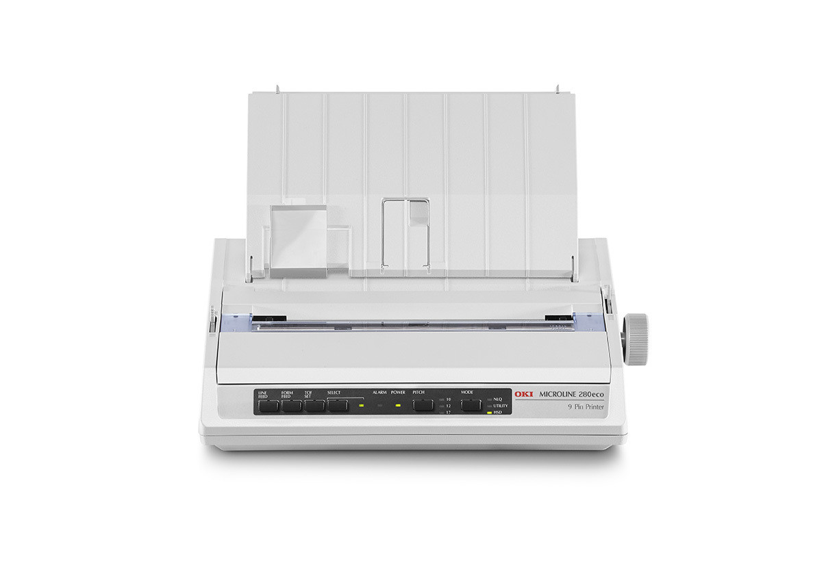 OKI 9 Pin Dot Matrix Printer ML280 Eco (c/w Power Cord & USB Cable)