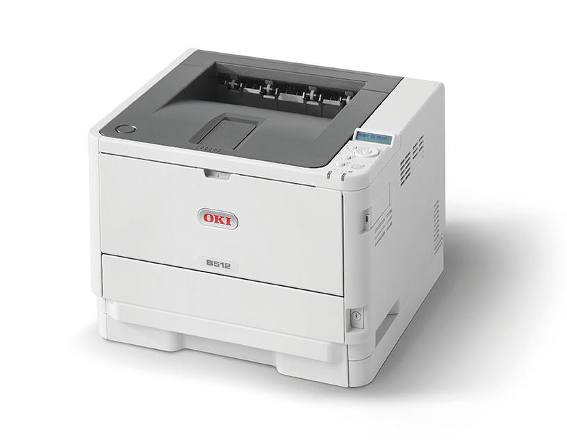 OKI Mono Printer B512dn (c/w Power Cord & USB Cable)