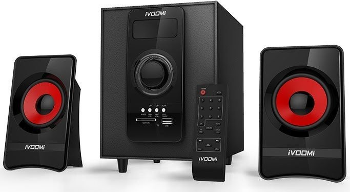 iVoomi 2.1 Multimedia Speaker IVO-1670-SUF-BT (Bluetooth/FM/USB/SD/Remote Control)