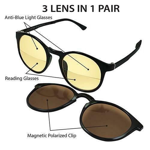 Archgon 3 In 1 Polarized Sunglasses 250 Degree GL-R2102-K25