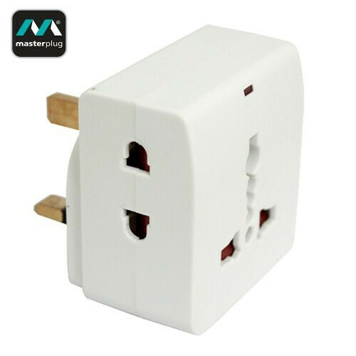 Masterplug 2 Pin 3 Socket 10A Adapter (MS16N-MP)