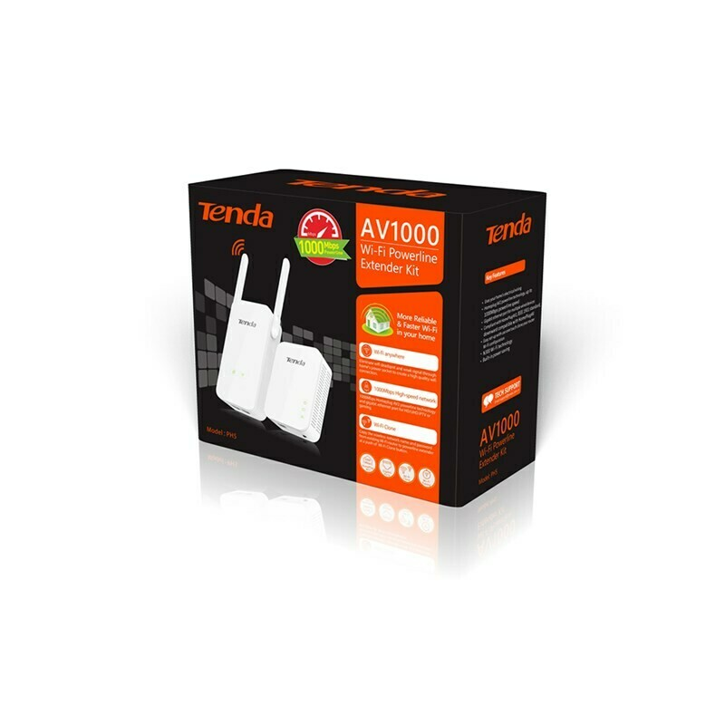 Tenda AV1000 Wi-Fi Powerline Extender Kit PH5