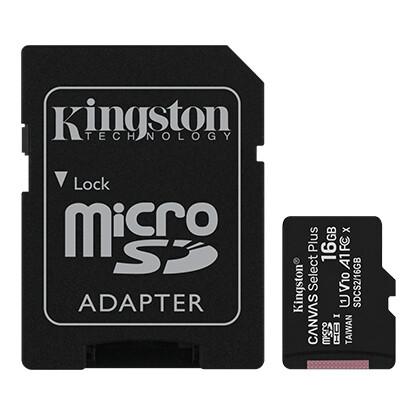 Kingston 16GB Canvas Select Plus Class 10 UHS-I U1 microSDHC/SDXC