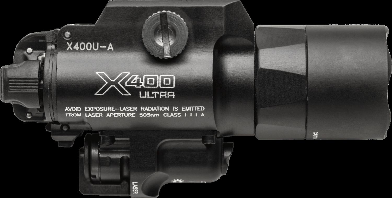 Surefire X400® Ultra — Red Laser LED Handgun or Long Gun WeaponLight with Laser X400U-A-RD (PRE ORDER)
