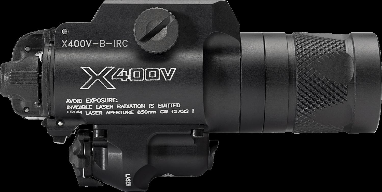 Surefire X400®V IRc White-Light/Infrared LED + Infrared Laser WeaponLight X400V-B-IRC (PRE ORDER)
