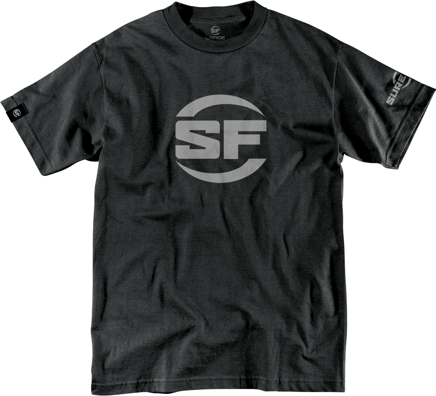 SureFire T-shirt Button Logo Black (PRE ORDER)