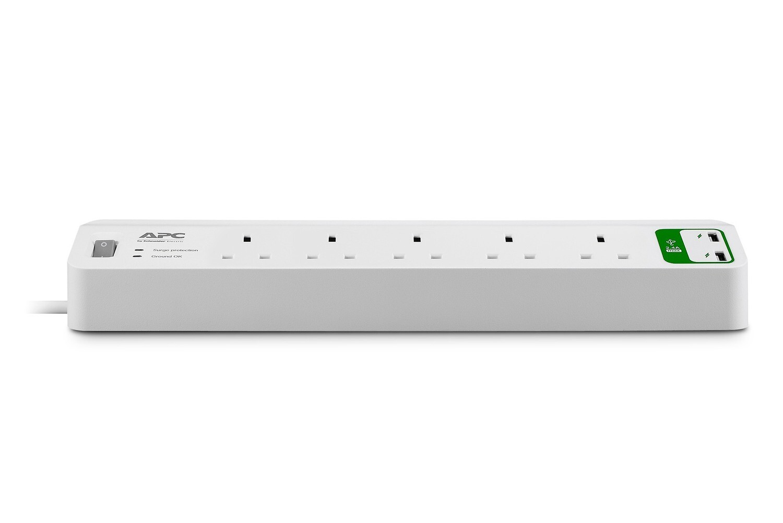 APC Essential SurgeArrest 5 outlets with 5V, 2.4A 2 port USB Charger 230V UK PM5U-UK