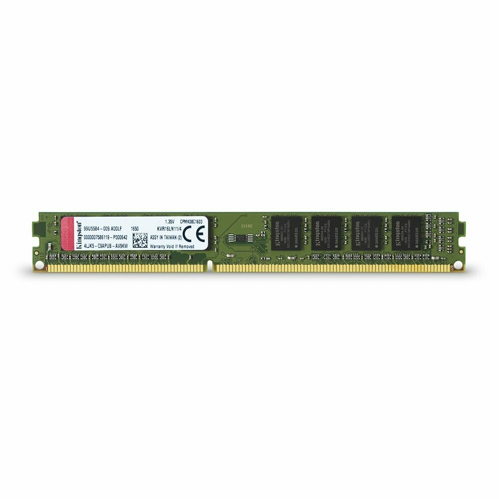 Kingston  4GB 1600MHz DDR3L Non-ECC CL11 DIMM 1.35V Memory KVR16LN11/4