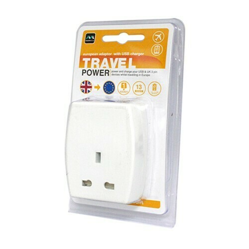 Masterplug USB (2.1mAh) Travel Adapter - EURO TAUSBEUR2-MP