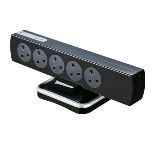 Masterplug 10 Gang 2 USB (3.1mAh) Switch Surge Protector 2 Meter Extension Leads SRGTOWSU102PB