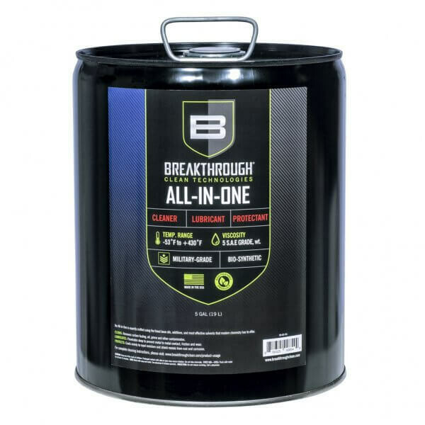 Breakthrough All-in-One (CLP) – Cleaner, Lubricant and Protectant 5gl Can BB-AIO-5GL