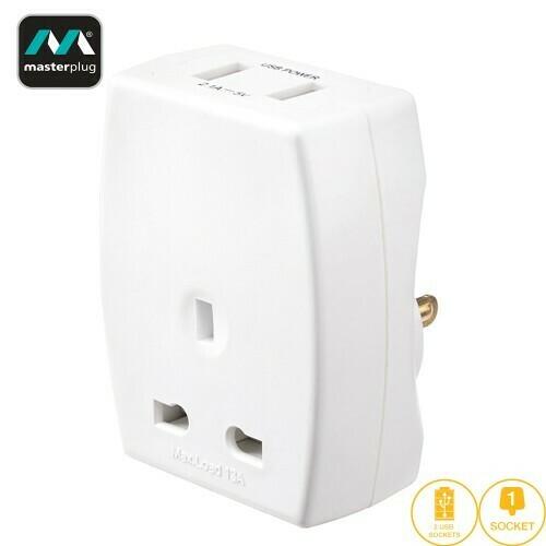 Masterplug USB (2.1mAh) Travel Adapter - US TAUSBUSA2-MP