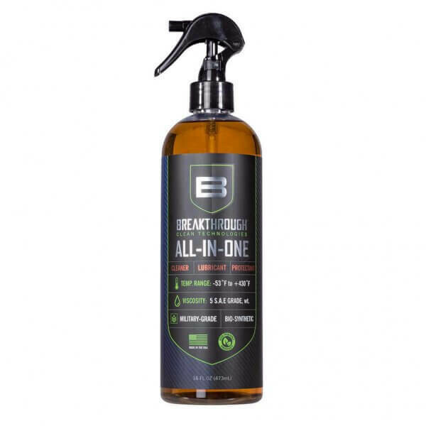 Breakthrough Clean All-in-One (CLP) – Cleaner, Lubricant and Protectant 16oz (473ml) Pump Spray Bottle   BB-AIO-16OZ